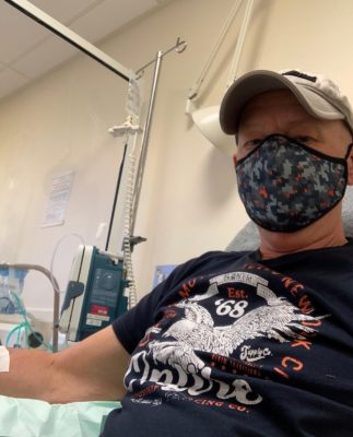 Russell having chemotherapy for pancreatic cancer