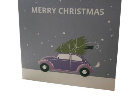 Car christmas card